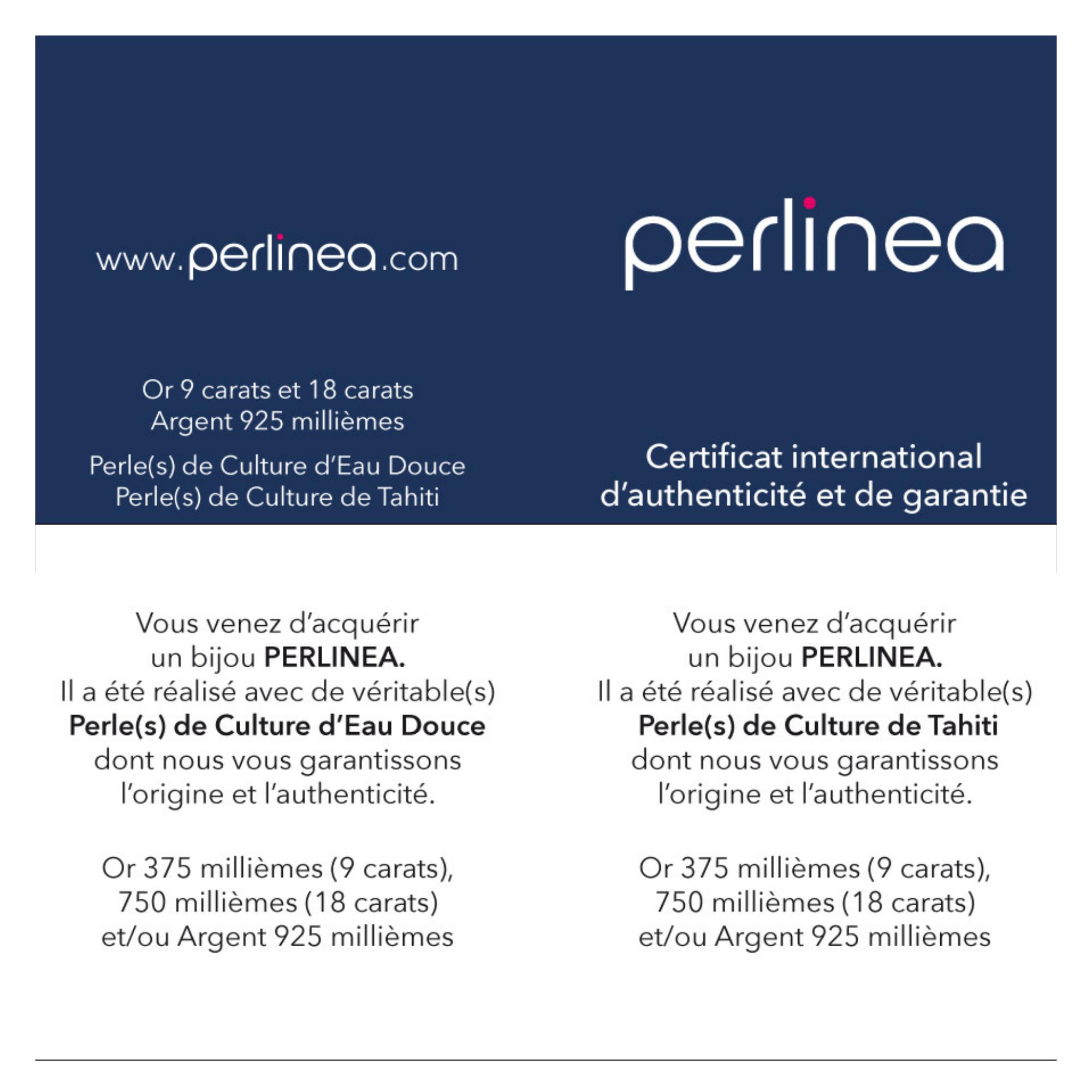 PERLINEA - Collier - Perle de Culture d'Eau Douce - Diamètre 6-7  mm  Rose Fushia - Bijou Femme - Argent 925 Millièmes